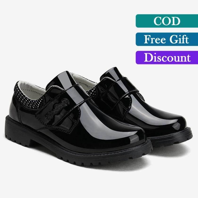 Trọng Bé Trai Giày Da cho Bé Móc & Vòng Lặp Giày Đế Mềm Đầm (Đen) giá rẻ