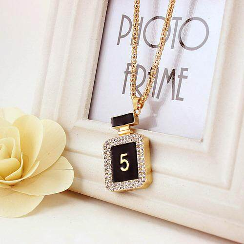Small gift giveaway Korea Korean cute perfume bottle necklace sweater chain fashion big name to send girlfriends special offer 917