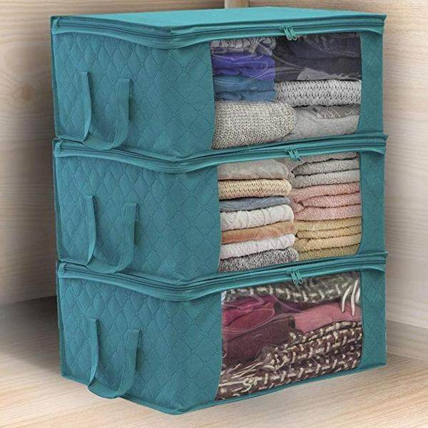 Three-piece Household Non-woven Storage Box Collapsible Storage Box Clothes Storage Box Fabric Storage Box Storage Box