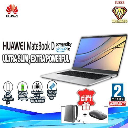 [GENUINE MY SET] Huawei Matebook D (Volta-W50D) Powered by 8th Gen Intel®  Core™ i5 (8+256GB) 14