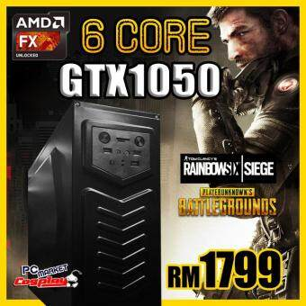 Gaming PC Desktop AMD 6Core GTX1050 GTX 1050 16GB Ram 1TB Hardisk for PUBG, Rainbow Six (NEW)