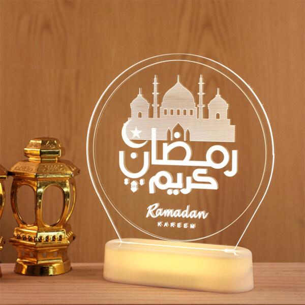 Bảng giá Đèn Trang Trí Ramadan Đèn Trầm Hương Hình Lâu Đài Mặt Trăng 3d Đèn, Eid Đèn Led Trang Trí Phòng Ramadan Mubarak