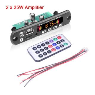 (Bộ Khuếch Đại 2X15W) Bộ Giải Mã WMA Máy Nghe Nhạc MP3 Bluetooth 12V Mô-đun Âm Thanh Máy Nghe Nhạc MP3 Trên Xe Hơi Không Dây USB TF Radio, Với Điều Khiển Từ Xa thumbnail