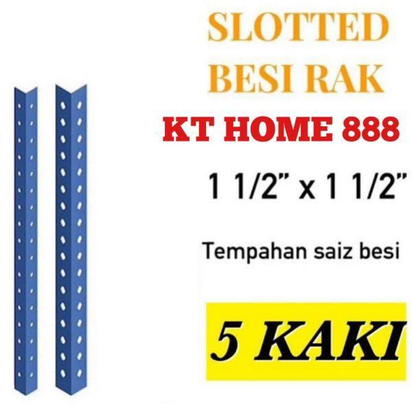 Besi Angle Rak Lubang 5 kaki /slotted angle bar at 5 feet