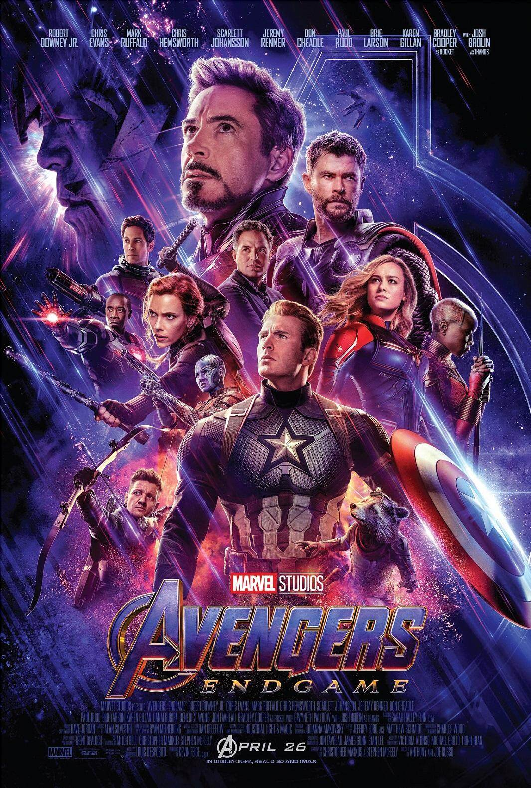 Marvel Avengers 4 League Endgame Movie Poster Wallpaper High Quality Synthetic Paper Decorative Painting HD