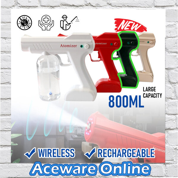 DS350 WIRELESS RECHARGEABLE DISINFECTANT FOGGING MACHINE NANO ATOMIZER SPRAY STEAM GUN HOUSEHOLE PORTABLE BLUE RAY