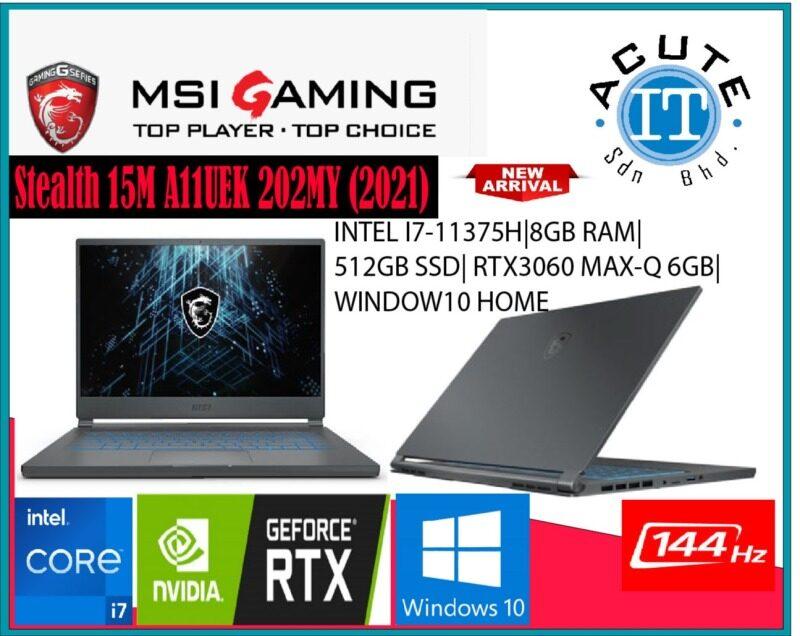 MSI Stealth 15M A11UEK 202MY  15.6 FHD 144Hz Gaming Laptop Malaysia