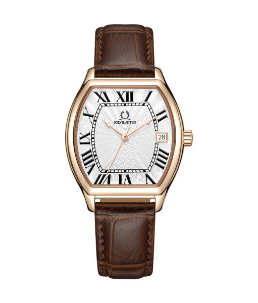 Solvil et Titus W06-03164-003 Womens Quartz Analogue Watch in Silver White Dial and Leather Strap Malaysia