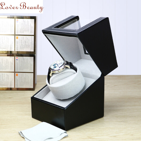 LB 【Ready Stock&COD】Single Watch Winder,Watch Winders for Automatic Watch,Dust-Proof Mechanical Watch Winding Box Leather Motor Shaker Watch Box Holder Display Case, Quiet Japanese Motor Battery Powered Or AC Adapter Malaysia