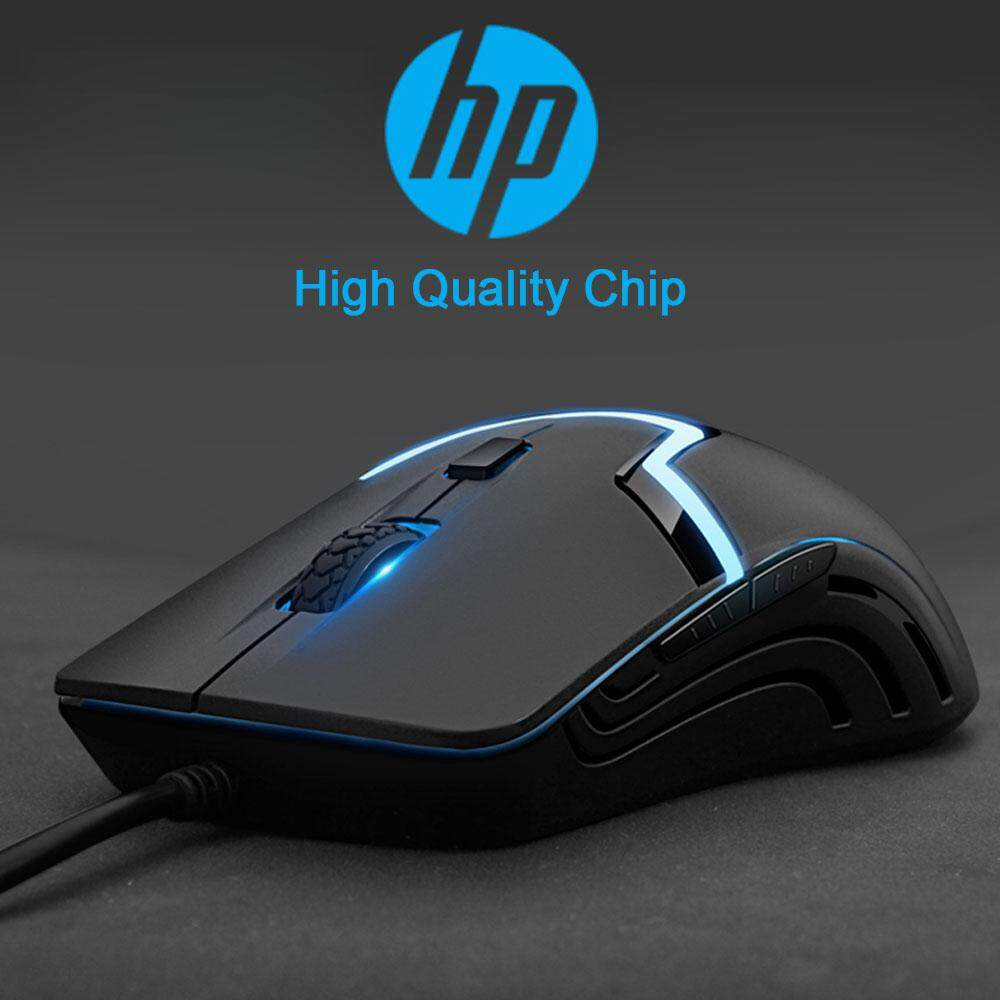 HP M100 High Performance Gaming Mouse with 7 Colors Rainbow LED Light Silent Mice Malaysia