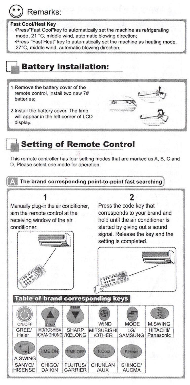 K-1028E Remote Controller Universal A/C Remote Control LCD Air Condition  Controller for Air Conditioner Low Power Consumption