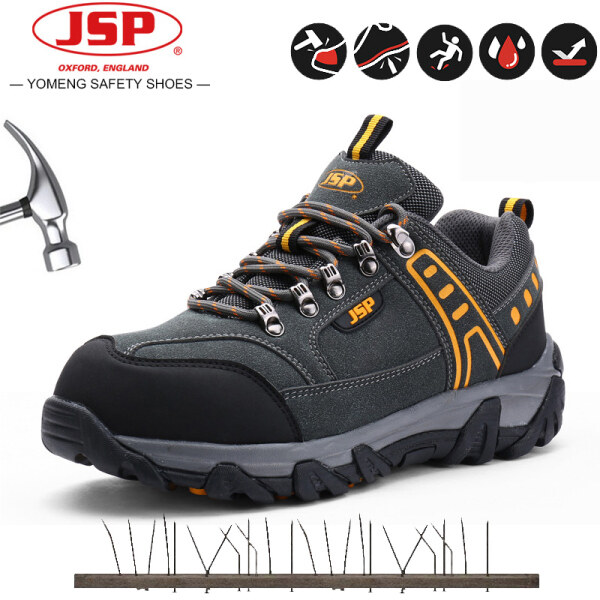 JSP Safety Shoes Mens Steel Toe Work Safety Shoes Casual Breathable Outdoor Sneakers Puncture Proof Boots Comfortable Industrial Boots