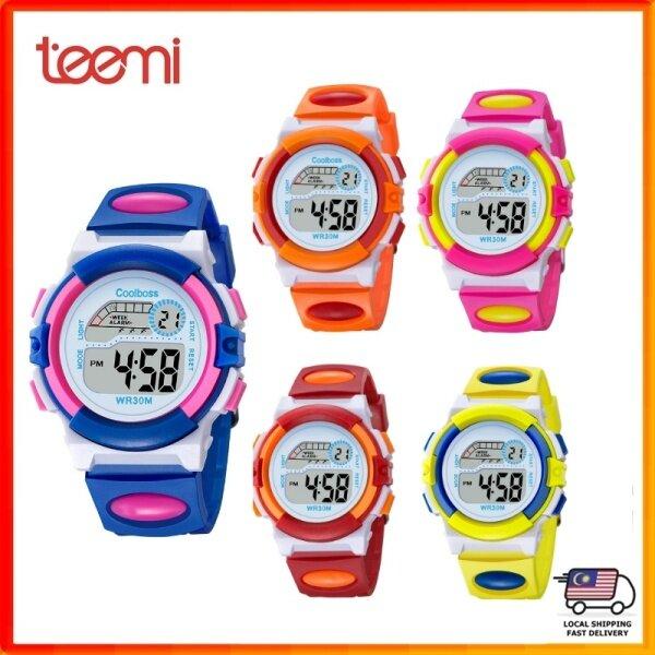 TEEMI BiColor Kids Children Girl Sports LED Digital Watch Rainbow Back Light Malaysia