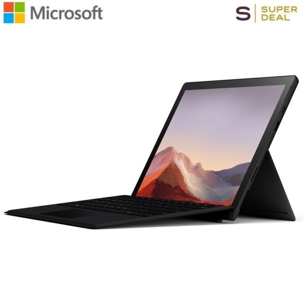 Microsoft 12.3 Multi-Touch Surface Pro 7 Matte Black Bundle with Black Surface Pro Type Cover QWW-00001 Malaysia