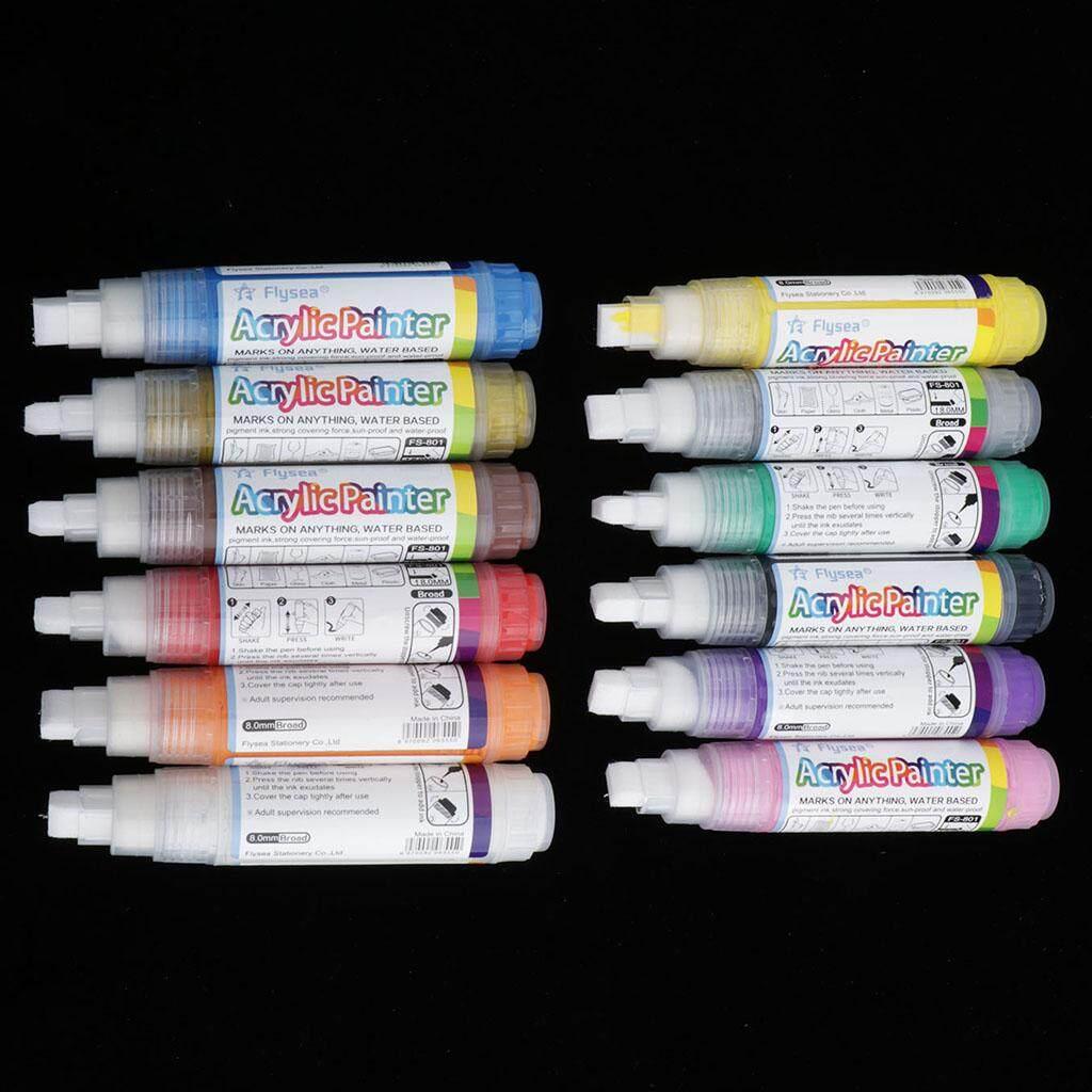 Mua Kesoto 12 Màu waterbased sơn acrylic bút Bút Đánh Dấu cho cơ thể tranh, Graffiti