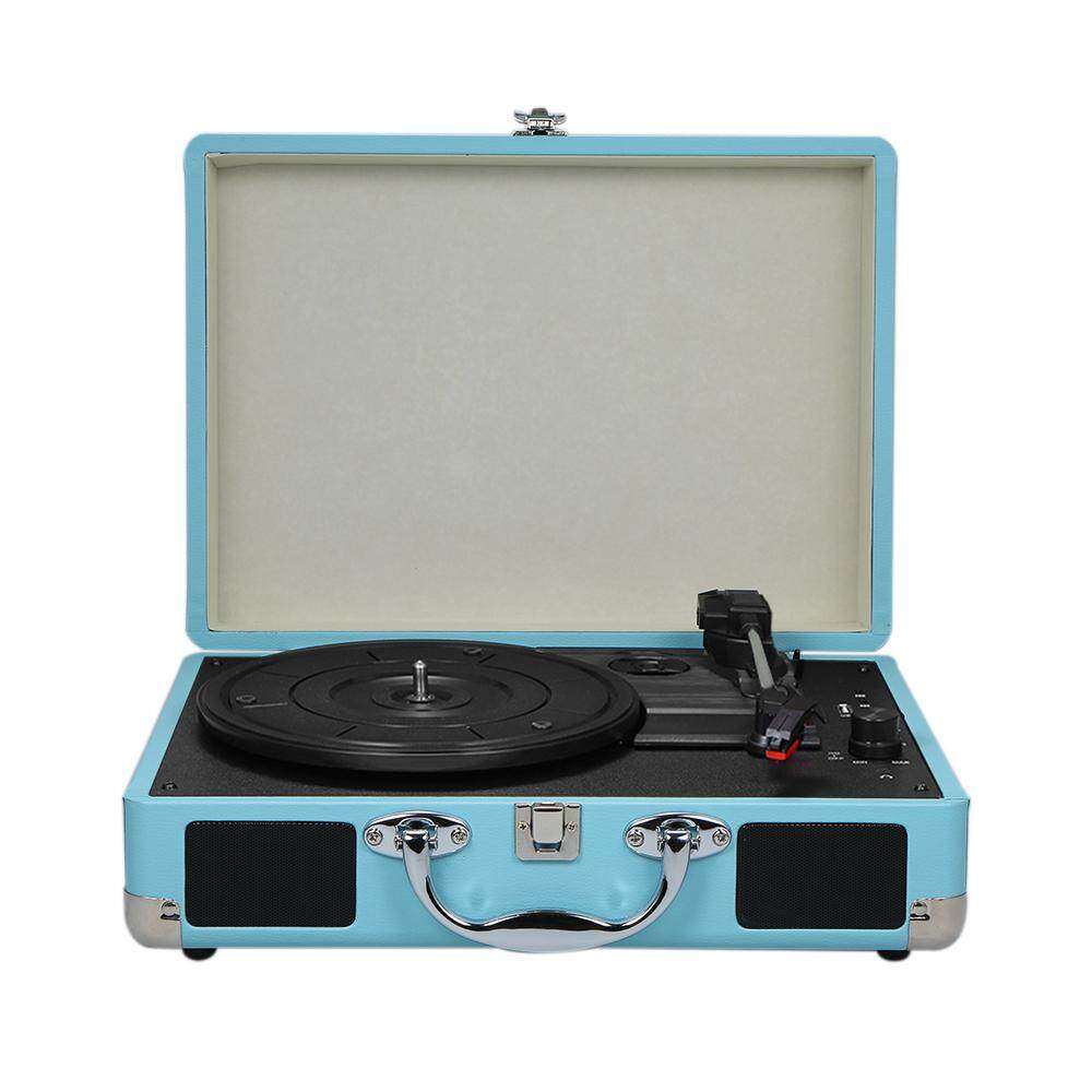 Turntable With Speakers Vintage BT Phonograph USB Interface Record Player  Stereo Sound