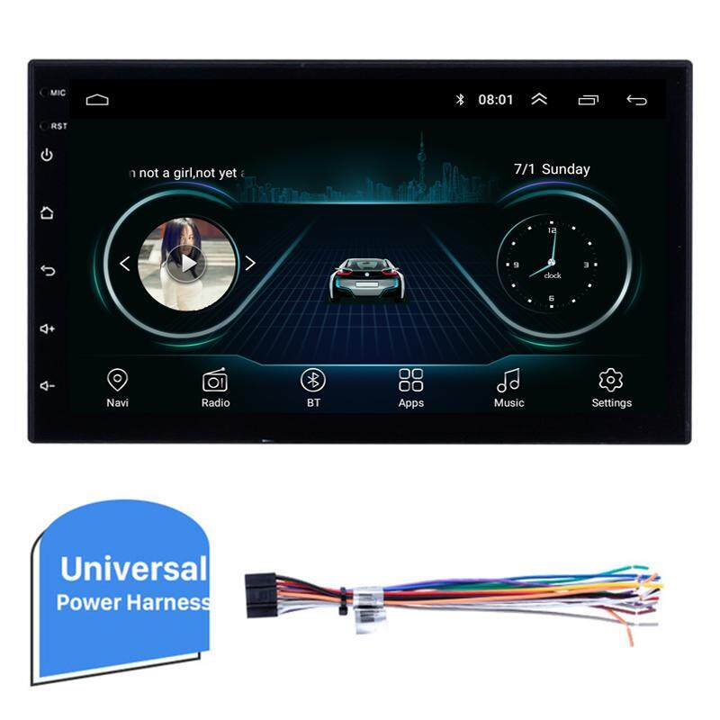 7.inch Android 8.1 2DIN Car Radio Multimedia Video Player Universal Auto Stereo GPS Navigation for Toyota KIA Hyundai VW Honda