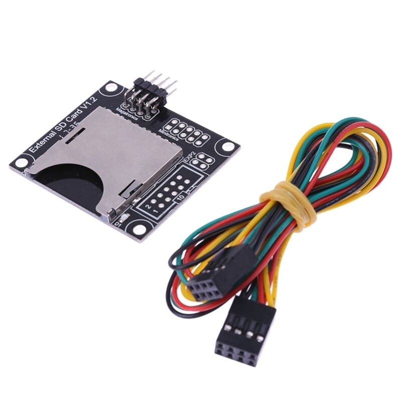 3D Printer External Sd Card Slot Module Independent External Module With Connecting Cable Line 3D Printer Parts Accessories