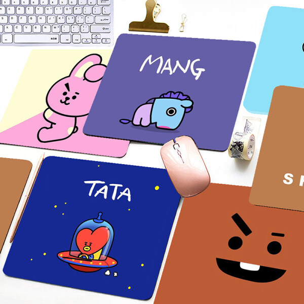 Cartoon BT21 Printed Mouse Pad Game Office Home Multimedia Computer Keyboard Non-slip Mouse Pad Malaysia