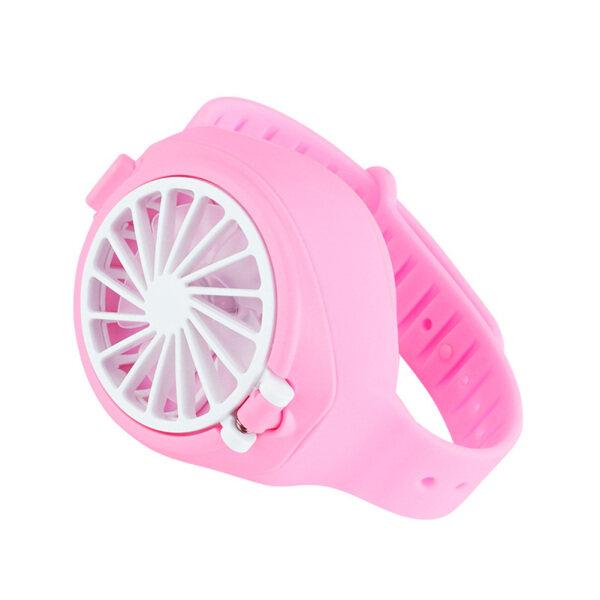 Serein® Quạt làm mát sạc USB cầm tay, quạt mini làm mát không khí thiết kế gấp với hình dạng đồng hồ cho gia đình - INTL