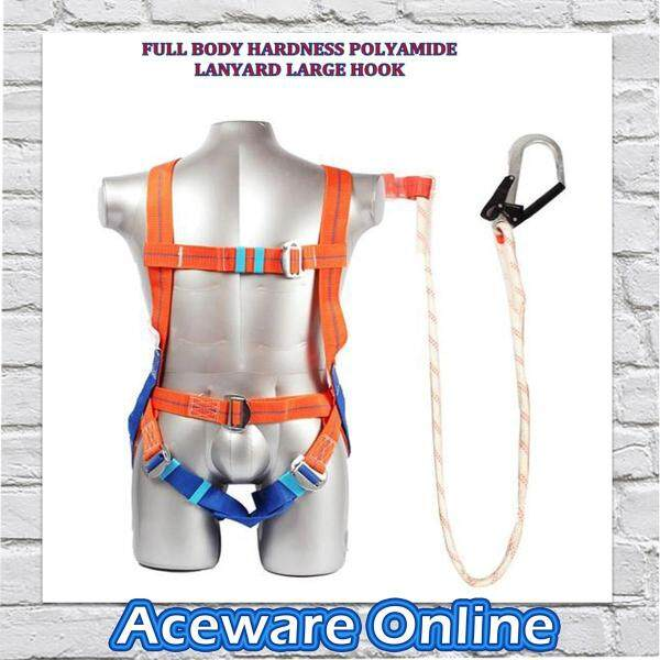 SAFETY BELT FULL BODY HARNESS POLYAMIDE LANYARD LARGE HOOK(SH1H)