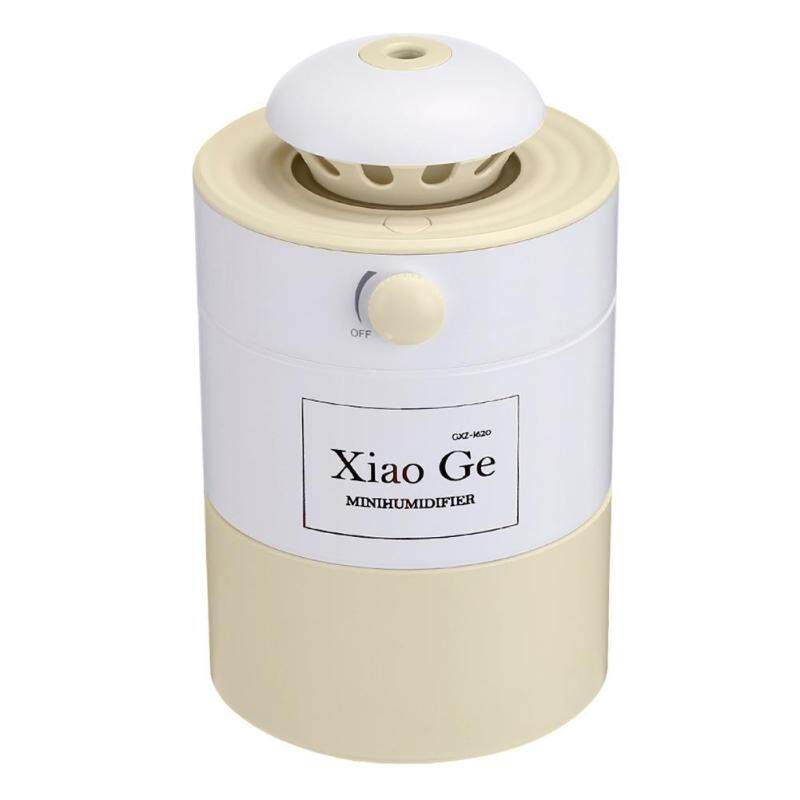 〔questionno〕Adjustable 500mL USB Air Humidifier Aroma Diffuser Yellow LED Night Light(READY STOCK & COD & LOW PRICE & HIGH QUALITY) Singapore