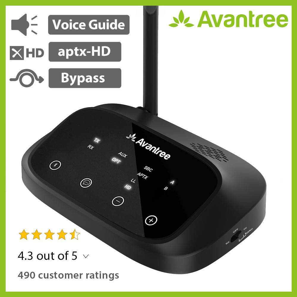 Avantree Aptx Hd Low Latency Long Range Bluetooth Transmitter Receiver, Bluetooth Audio Adapter For Home Stereo, Optical Aux Rca, Dual Link Extender, Splitter For Wire & Wireless - Oasis Plus.