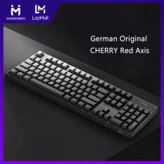 MAIBENBEN Keyboards Mechanical Gaming Keyboard 104 Keys German CHERRY Red Axis PBT White Backlit Anti-Ghosting Wired USB For PC Desktop Computer Laptop Notebook Free Shipping MKD04