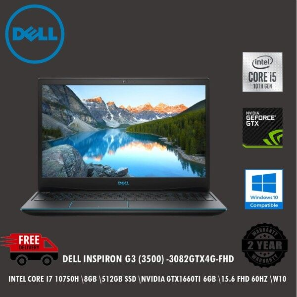 Dell Inspiron 15 G3 3500-3082GTX4G-W10 15.6 FHD Gaming Laptop Eclipse Black ( I5-10300H, 8GB, 256GB SSD, GTX1650 4GB, W10 ) Malaysia