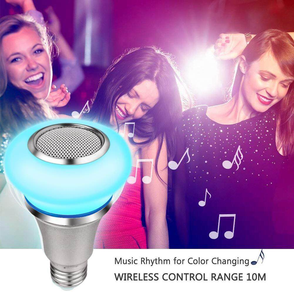 Smart Life RGB Remote Control Dimmable Bluetooth Speaker Mini Home Wireless Playing Color Changing Music Light Bulb