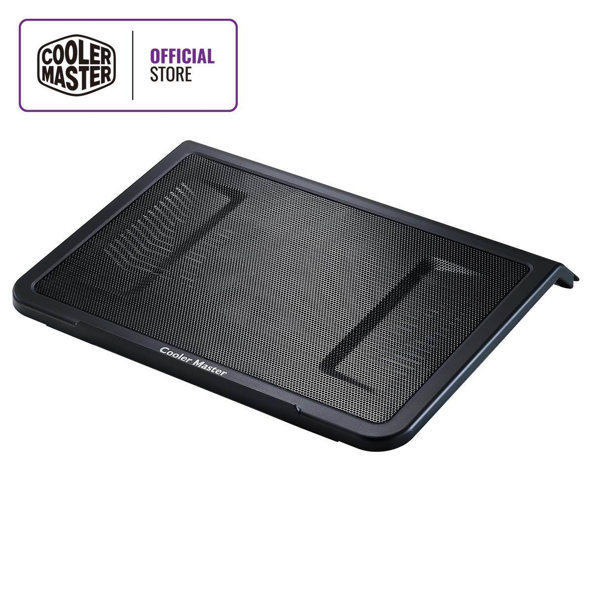 "Cooler Master Notepal L1 Notebook Cooler, Slim & Lightweight, 160mm Fan, Metal Mesh Board, USB Port Extender, Cable Grooves, Up to 17"" Notebooks Malaysia"