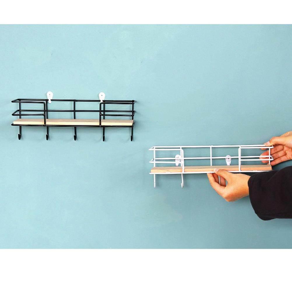 Trang Trí Bằng Gỗ Sắt Treo Tường Phòng Ngủ Văn Phòng Nhà Bếp Với Kệ Móc Giá Lưu Trữ