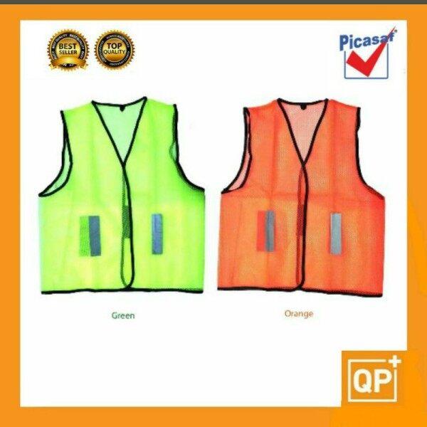 [PICASAF] Reflective Thin Safety Vest Coat Net/Mesh Fabric c/w Velcro Fastener