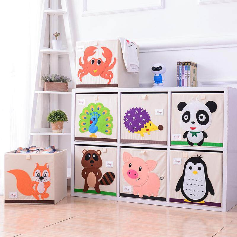 IVSO Baby Toy Storage Box Childrens Cartoon Collapsible Storage Box Oxford Cloth Storage Box