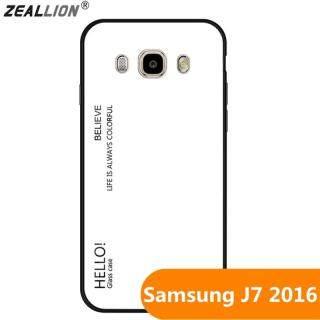 Zeallion Ốp Lưng Kính Cường Lực Gradient Cho Samsung Galaxy J7 2016 J710 Ốp Bảo Vệ Điện Thoại thumbnail