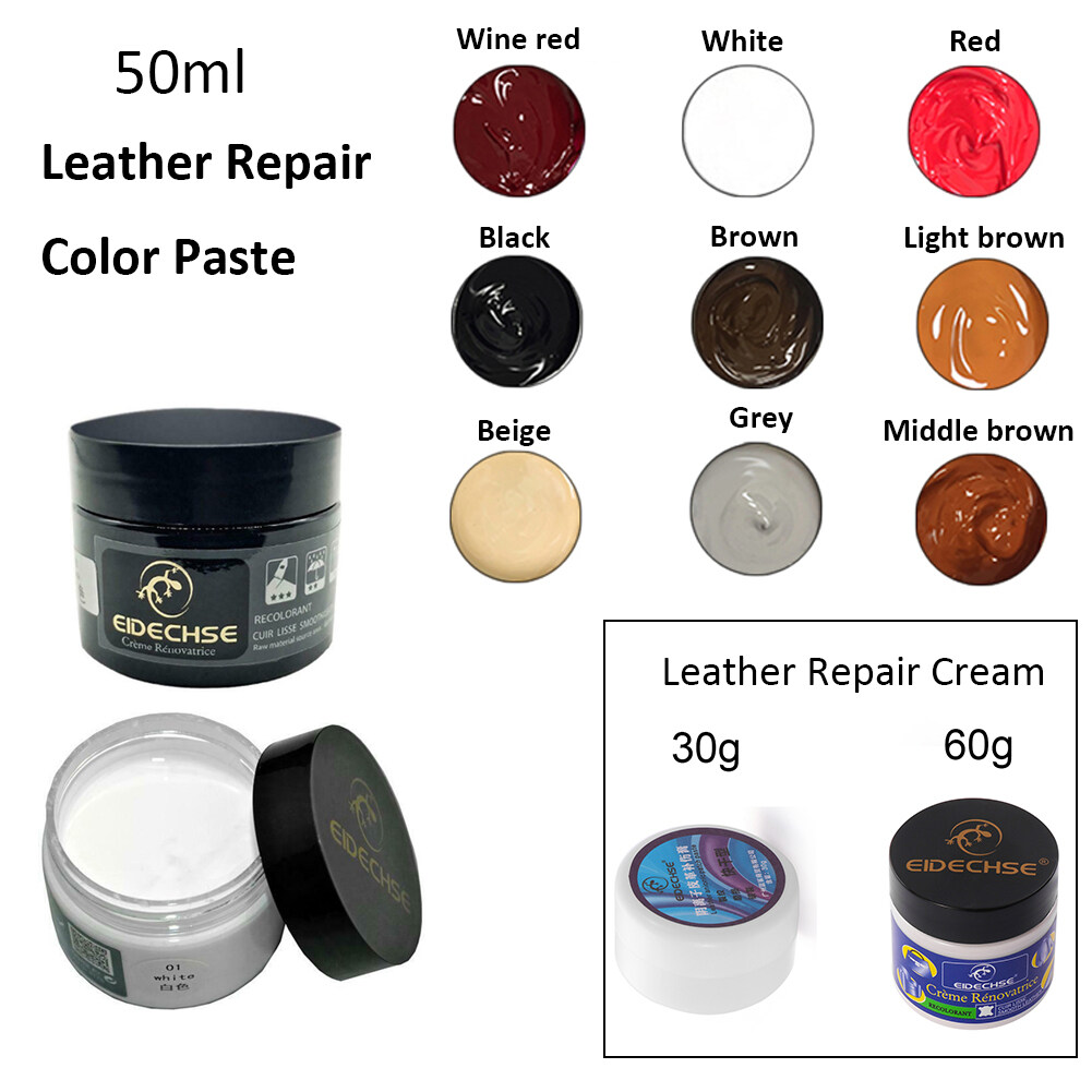 60g Car Seat Sofa Leather Repair Cream Color Paste Dye Colour Restorer Renew