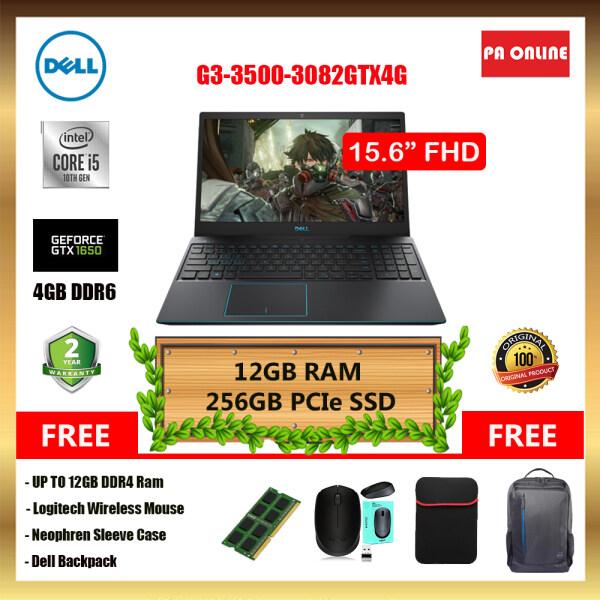 Dell G3-3500-3082GTX4G-FHD -Intel Core i5-10300H / 12GB-20GB RAM /256GB SSD /NVD GTX 1650 4GB GDDR6/ 15.6 FHD IPS/ Win 10/ 2 Years Malaysia