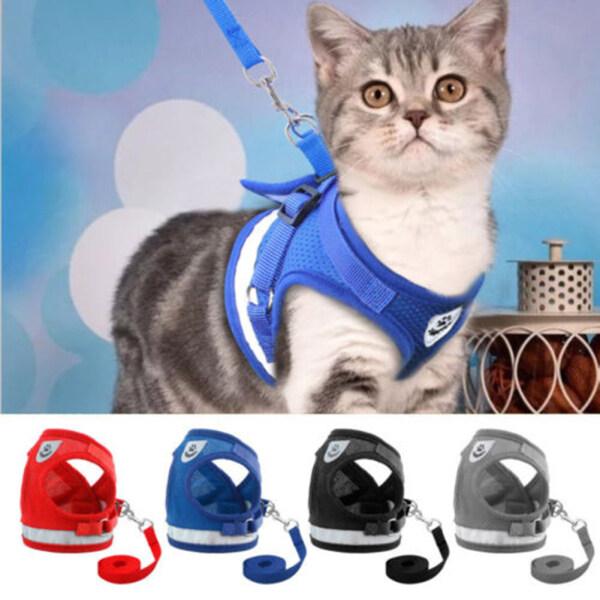 1 Chiếc Áo Gi-lê Cho Thú Cưng Đi Dạo Phản Quang Có Dây Dắt Có Thể Điều Chỉnh Thời Trang Cho Chó Mèo Nhỏ
