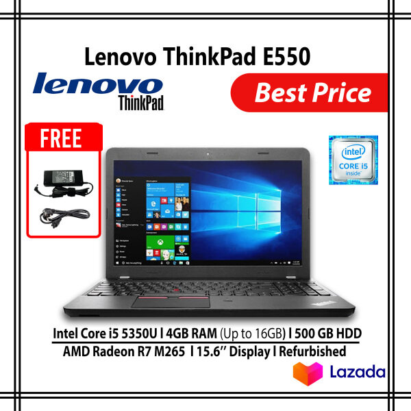 Lenovo ThinkPad E550 Intel Core i5 4GB RAM 500GB HDD, Screen 15.6 Graphics AMD Radeon R7 Malaysia