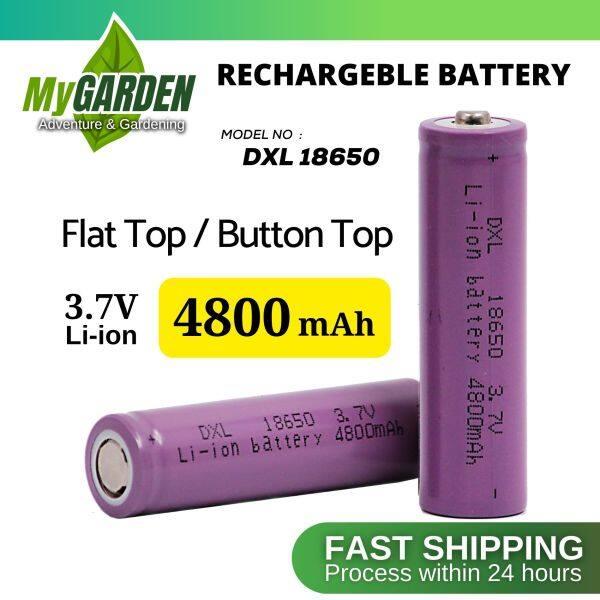 Bateri Boleh Cas Semula DXL 18650 3.7V Flat Top / Button Top Rechargeable Battery 4800mah ( 1pcs / Wholesale )
