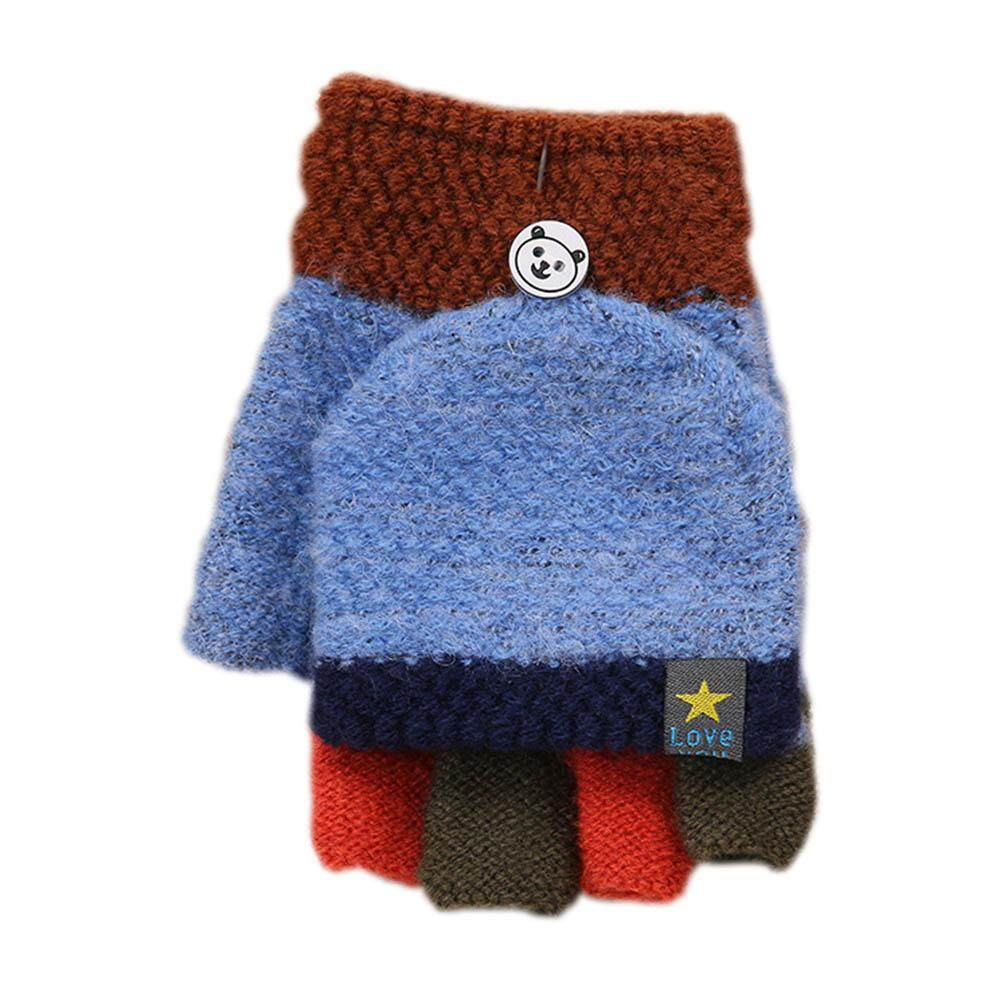 Back To Search Resultsapparel Accessories 2018 Winter Warm Children Kids Mitten Gloves Knitted Fabric Double Thickened All Cover Fingers Kids Gloves For Boys And Girls