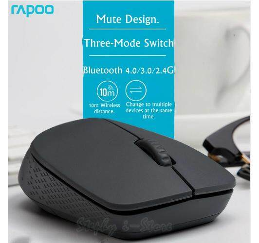Multi-Mode Rapoo i35 Bluetooth 4.0,Bluetooth 3.0/2.4G Wireless Notebook Desktop Mouse Mute Multi-Device Office Mouse Malaysia