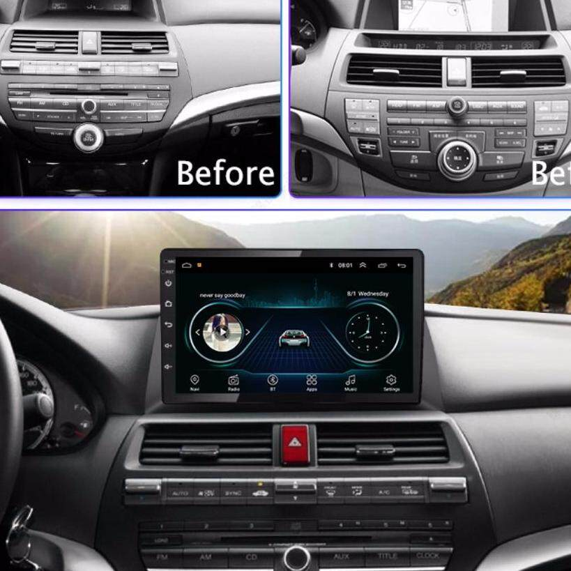 Ips 2.5d Android 8.1 Car Dvd Gps Player For Honda Accord 8 2008-2012 With Car Radio Video Player Gps Navigation Car Stereo By Navi Yourtour.
