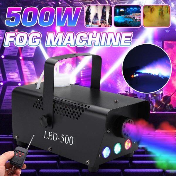 Máy Phun Sương 500W, RGB LED Ánh Sáng Đèn Sân Khấu Hiệu Ứng DJ Vũ Trường Tiệc Tùng Với Từ Xa Không Dây KTV Trang Trí Quán Bar Câu Lạc Bộ Gia Đình Đám Cưới Sinh Nhật AC220V