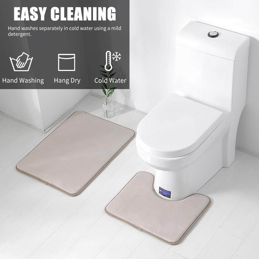 Absorbent Non-slip Memory Foam Soft Bathroom Bedroom Bath Mat Floor Rug Carpet