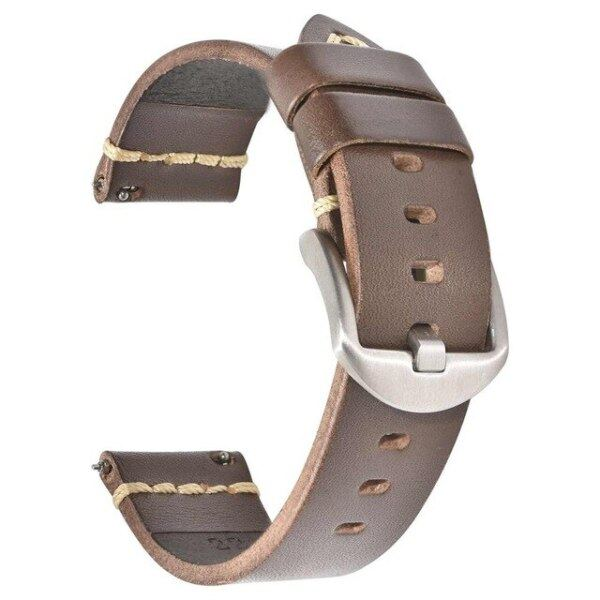 Genuine Leather Watch Band Strap 20mm 22mm 24mm Quick Release Retro Watchband Brown for fossil Malaysia
