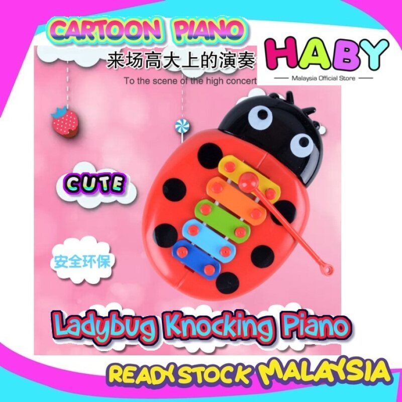 HABY Cute Child Ladybugs Knock On Piano Ladybug Baby Puzzle Insects Piano Music Instrument Toys Malaysia