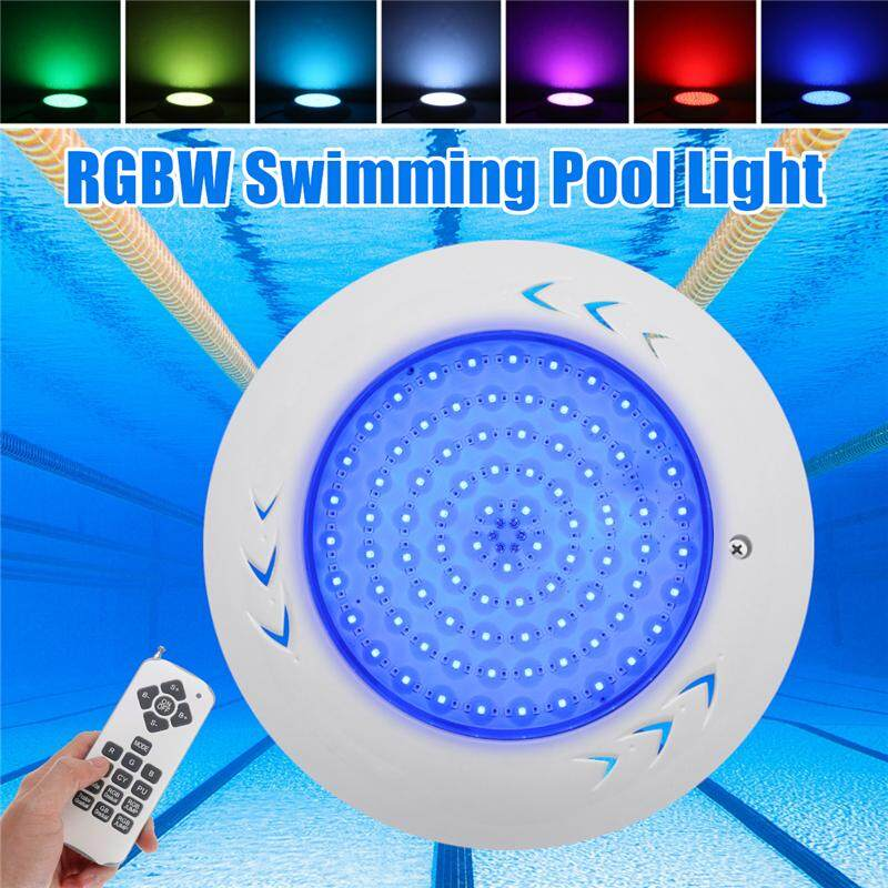 【Free Shipping + Flash Deal】 A Pair Waterproof Underwater Swimming Pool Spa LED Light RGB Lamp + Controller 12V 18W