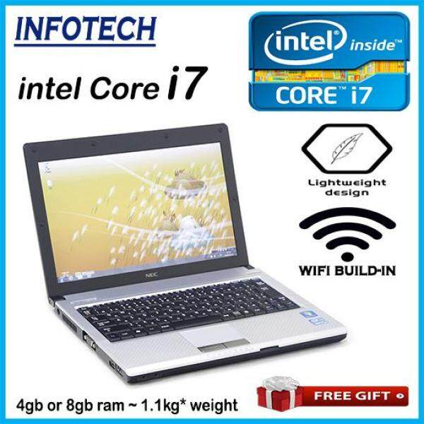 Nec intel core i7 ~ 4gb or 8gb ram ~ 250gb hdd ~ Build in wifi ~ 12.1 wide ~ Light Weight 1.1kg* ~ w7pro ~ netbook laptop notebook ~ refurbished ~ Versapro Malaysia