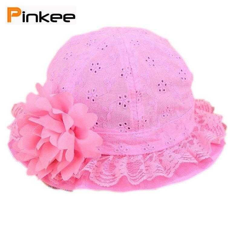 0082ffff Pinkee Cute Baby Girls Hollow Sun Cap Solid Lace Sunscreen Summer Beach  Bucket Flower Hats
